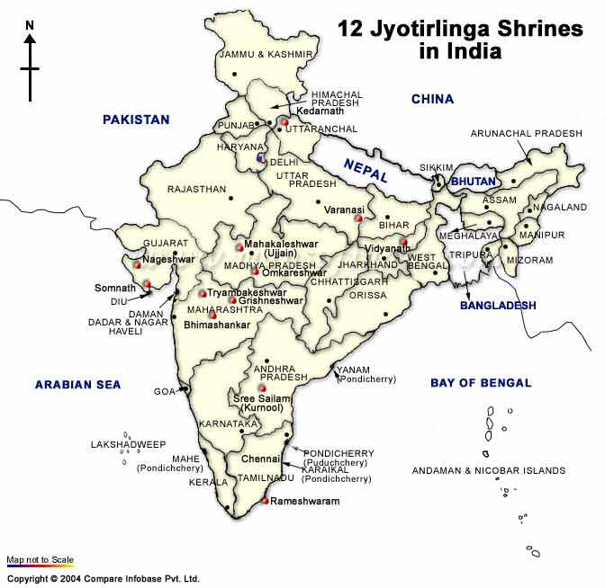 Map Jyotirlinga